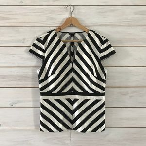 Ann Taylor Fitted Striped Blouse